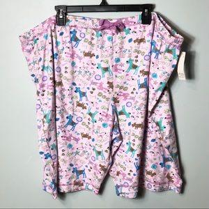 NWT Adonna woman spring lilac dogs sleep shorts